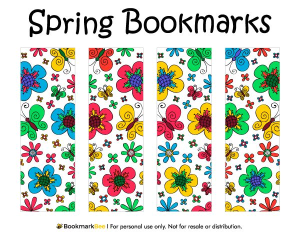 bookworm bookmark template - free printable spring bookmarks download the pdf template
