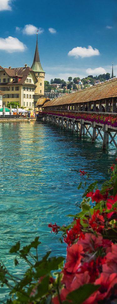 One day I will go to Lucerne!  Chapel Bridge, Lucerne, Switzerland