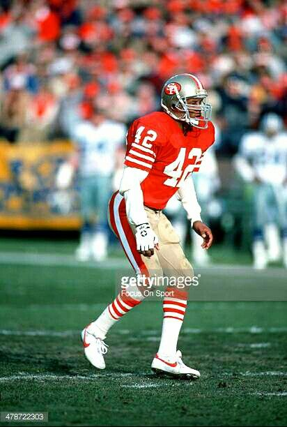 Ronnie Lott, some say the greatest safety to ever play the game