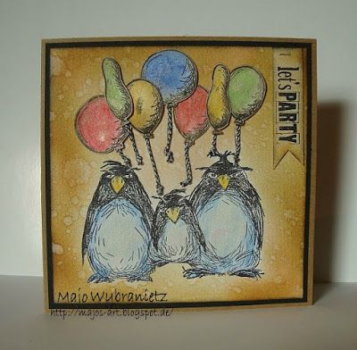 *Majos Art* - Katzelkraft Stamps, Crazy Thinds Stamps by Tim Holtz, Rubber Dance Stamps