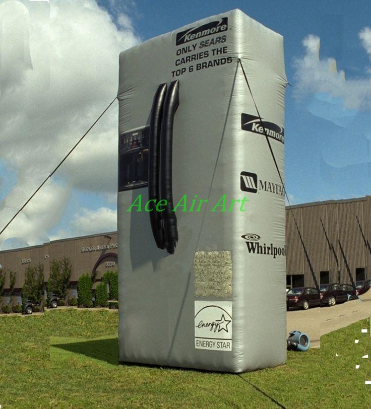 Custom inflatable Refrigerator replica for sale, , inflatable refrigerator for advertising display