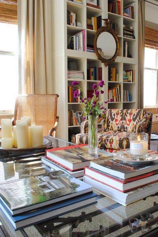 Floor to ceiling bookshelf.