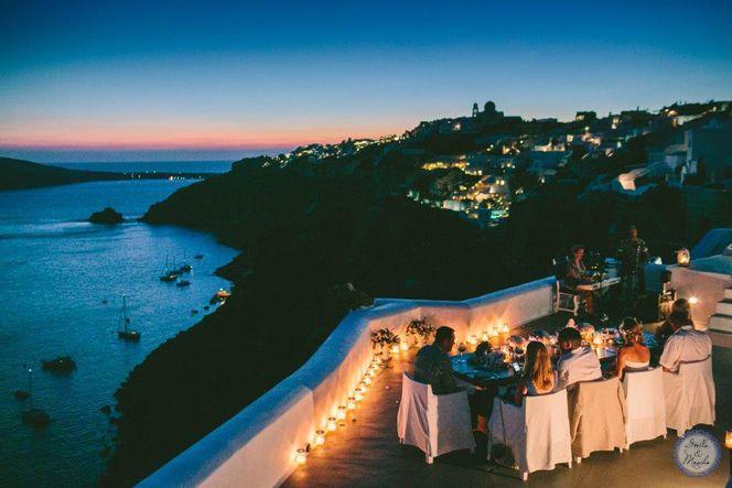 Santorini Wedding Venue Oia | Santorini Wedding | Destination Wedding by Stella and Moscha - Exclusive Greek Island Weddings | Photo by George Pahountis