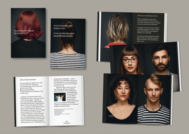 Staatstheater Mainz CI | Playful Typography Theater Graphic Corporate Identity | Award-winning Integrated Graphics | D&AD