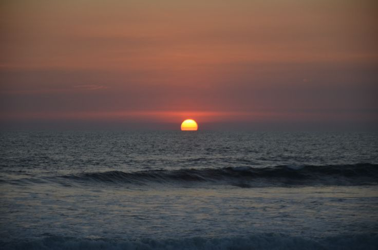 Sunset over the Pacific Ocean in Las Penitas, Nicaragua