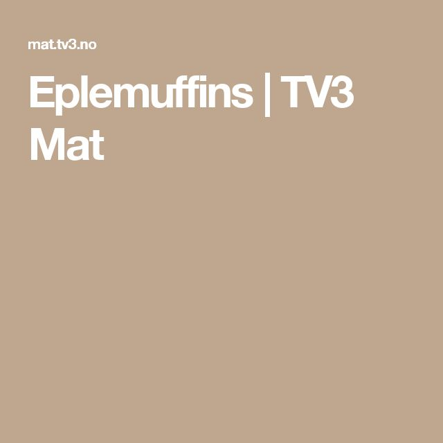 Eplemuffins | TV3 Mat