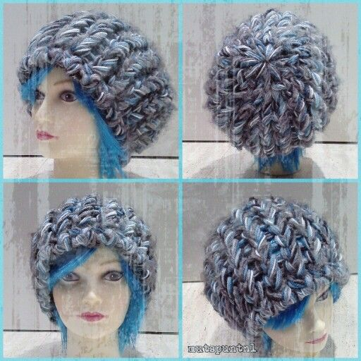 Mutspuntnl made by juul loomknitting hat loom knitting