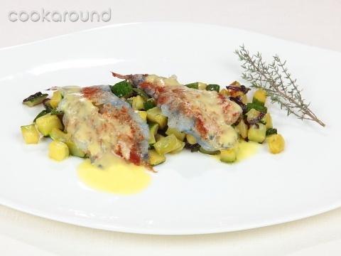 Carpaccio di gamberi rossi con paprica e zucchine: Ricette di Cookaround | Cookaround