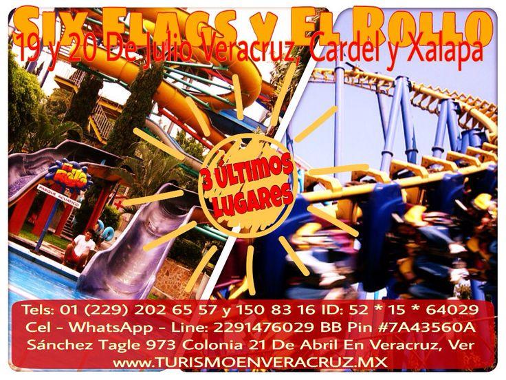 3 últimos lugares para Six Flags y El Rollo este fin de semana http://www.turismoenveracruz.mx/2014/01/el-rollo-y-six-flags-te-esperan-este-15-de-marzo-saliendo-de-veracruz-cardel-y-xalapa/