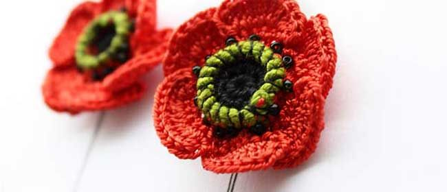 Free Crochet Pattern Poppy Flower : 17 Best images about Crochet - Poppies ! on Pinterest ...