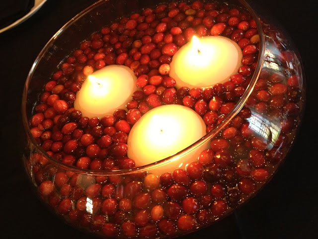 How To - Festive and cheap Cranberry Centerpiece