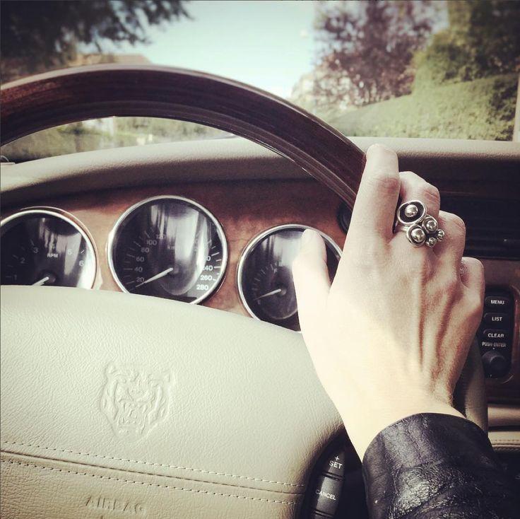 Going on a ride in this beauty...wroooom #Jaguar XKR 2010 Supercharged V8 #car #clanofdk #beautyfulldesign #jewelry #SterlingSilver #danishdesign #denmark #copenhagen