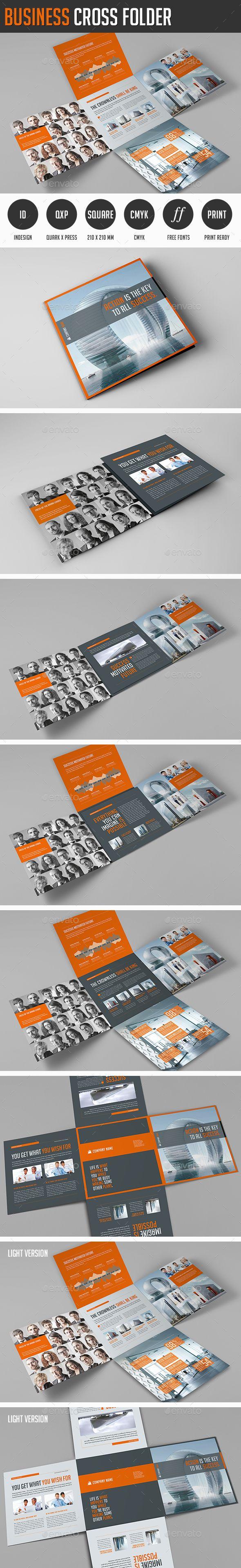 Business Cross Folder - Corporate Flyers