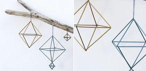 Kerst DIY: rietjes mobiel (himmeli) in geometrische vormen | Fashionlab