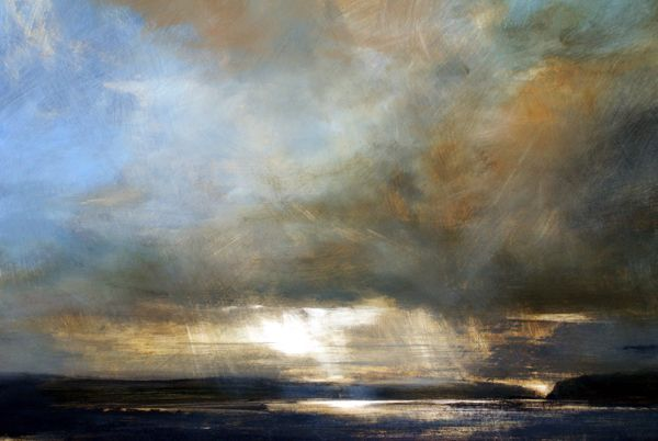 Early Light, Mull - Oil on Board - Zarina Stewart-Clark, Landscape Artist