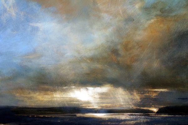 Headland, Skye, Oil on Board - Zarina Stewart-Clark, Landscape Paintings