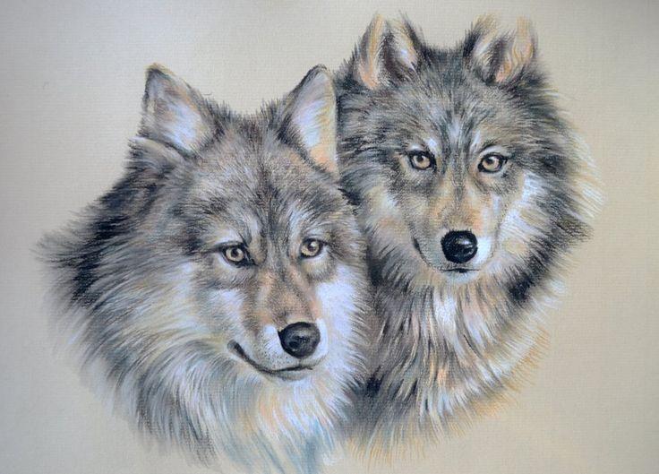 Wolf Pair ~ By Artibird, Pastel