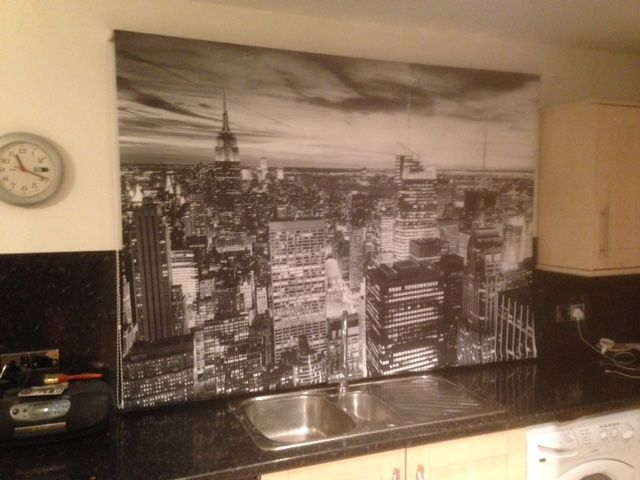 This Printed Roller blind was one of two with the customer requesting a New York scene in black & white. The results were very effective.