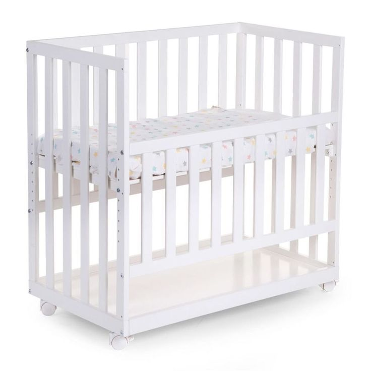 Baby Sleeping Crib White Wooden Nursery Child Infant Toddler Adjustable Rollers #BabySleepingCrib #Crib