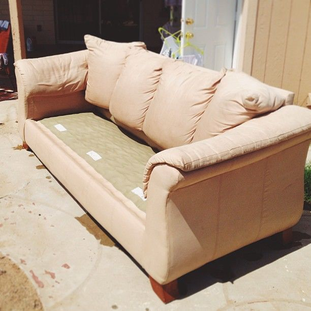 Irocksowhat I Washed My Microfiber Couch Outside With A Hose Microfiber Couch Couch Microfiber