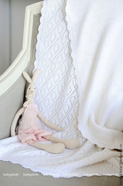 Пледы и одеяла ручной работы. Ярмарка Мастеров - ручная работа. Купить Вязаный…