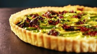 Squash and Goat Cheese Tart with Sundried Tomatoes Recipe | The Chew - ABC.com