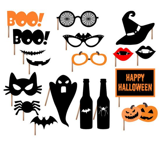 Halloween Party Printable Photo Booth Props by BCreativeDesignArts, $7.90