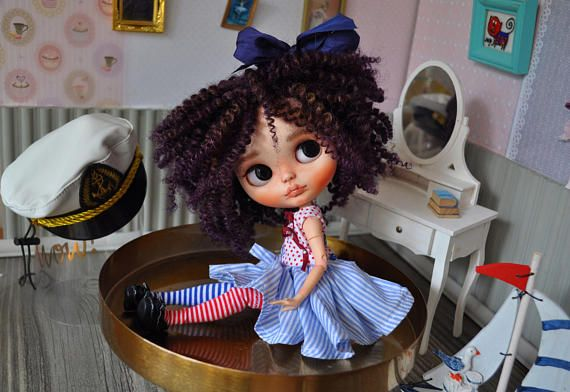 Doll for sale-Ooak custom blythe doll Sea by darya