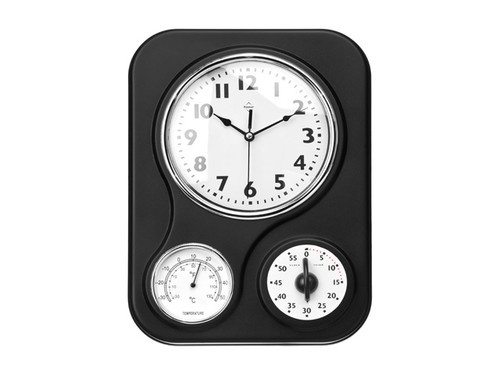 Retro Vintage Style Home Metal Kitchen Clock With Temperature and Timer - Black http://www.ebay.com/itm/Retro-Vintage-Style-Home-Metal-Kitchen-Clock-Temperature-and-Timer-Black-/330884567294?pt=US_Clocks=item4d0a41d0fe