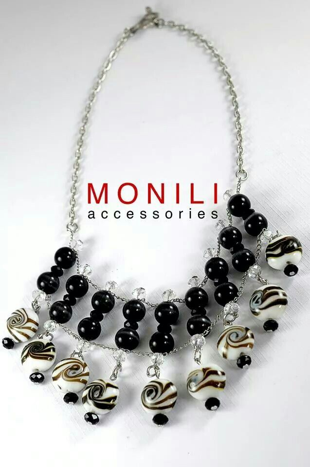 Black And White Statement Necklace by MONILI