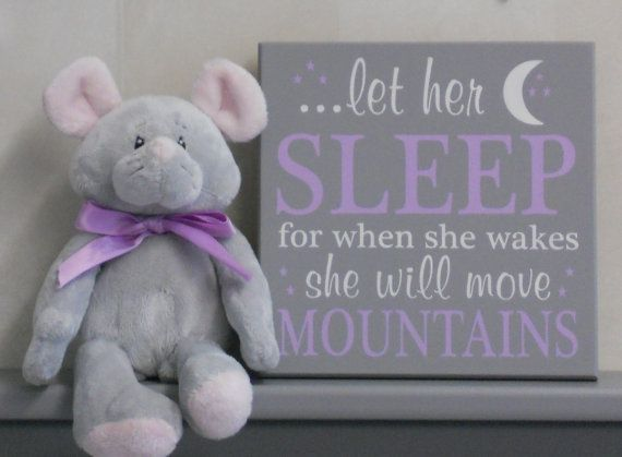 Baby Girl Nursery Decor  Purple Wall Sign: let her by NelsonsGifts