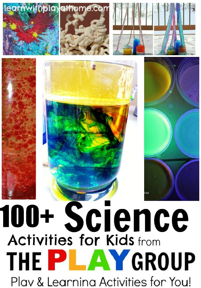 100+ Science Activities from The PLAY Group for creative children.