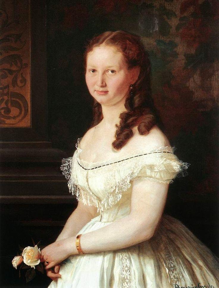 Νεαρό κορίτσι με τριαντάφυλλα (1868)