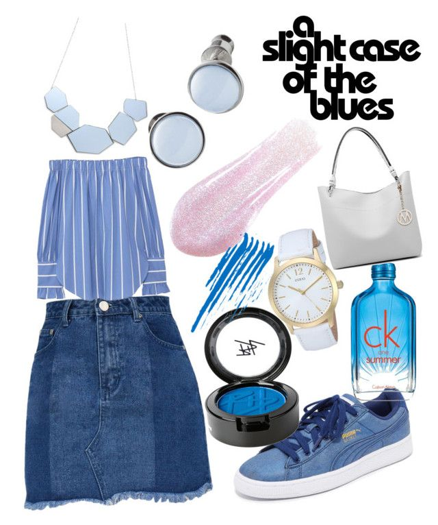 Monday morning blues by likhita-ratna on Polyvore featuring polyvore fashion style MANGO Puma MKF Collection GUESS Skagen Beauty Is Life Calvin Klein clothing