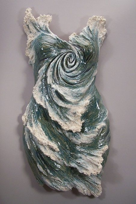 Denise Romecki's Surfing Wave Sculpture Statue Weblink:  http://deniseromecki.com/index.html Facebook Page:  https://www.facebook.com/pages/Denise-Romecki/543354055749354