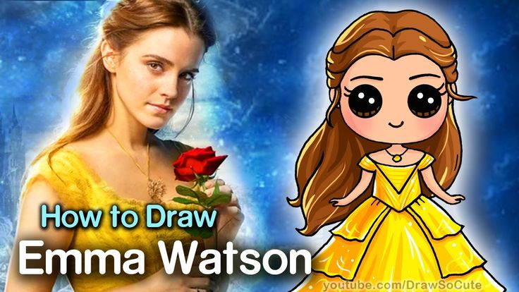 How To Draw Belle Beauty And The Beast Emma Watson