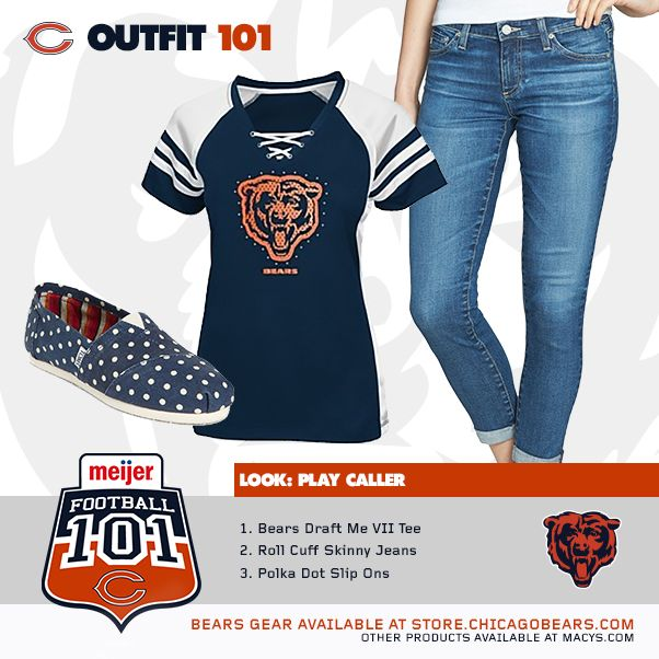 Get the Play Caller Look for Bears Football 101 on Monday, October 6th. Football 101 is an event at the United Club at Soldier Field where you can learn about the game of football and find out about the lives of your favorite Chicago Bears players.