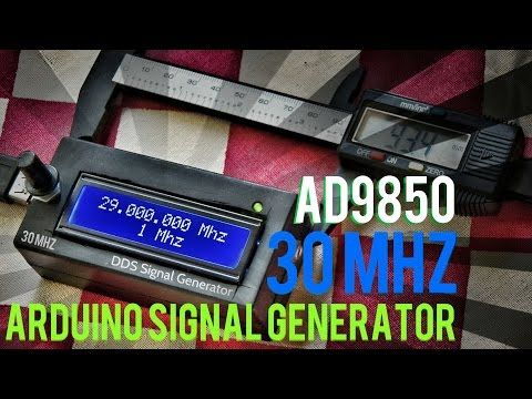 DDS Signal Generator 30MHZ Arduino Code With AD9850 - YouTube