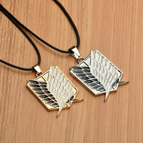 ATTACK ON TITAN Survey Corps Emblem Pendant Necklace //Price: $9.95 & FREE Shipping //     #manga #animes #movie #onlinestore #fans #movies