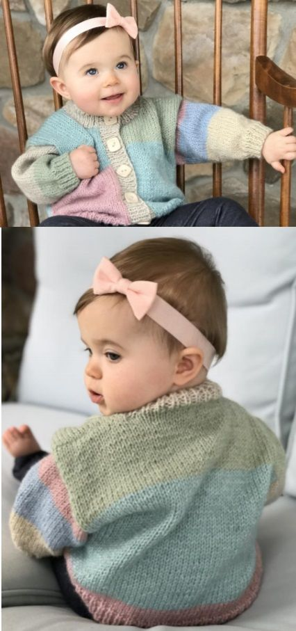 ce6e1c34e4e2 Free Knitting Pattern for Baby Cardigans