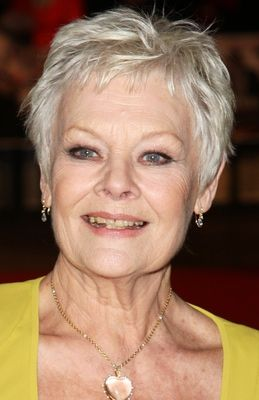 Judi Dench (1934) Great Haircuts for Women in Their 70s & 80s  http://beauty.about.com/od/spassalons/ss/Great-Haircuts-For-Women-In-Their-70s.htm