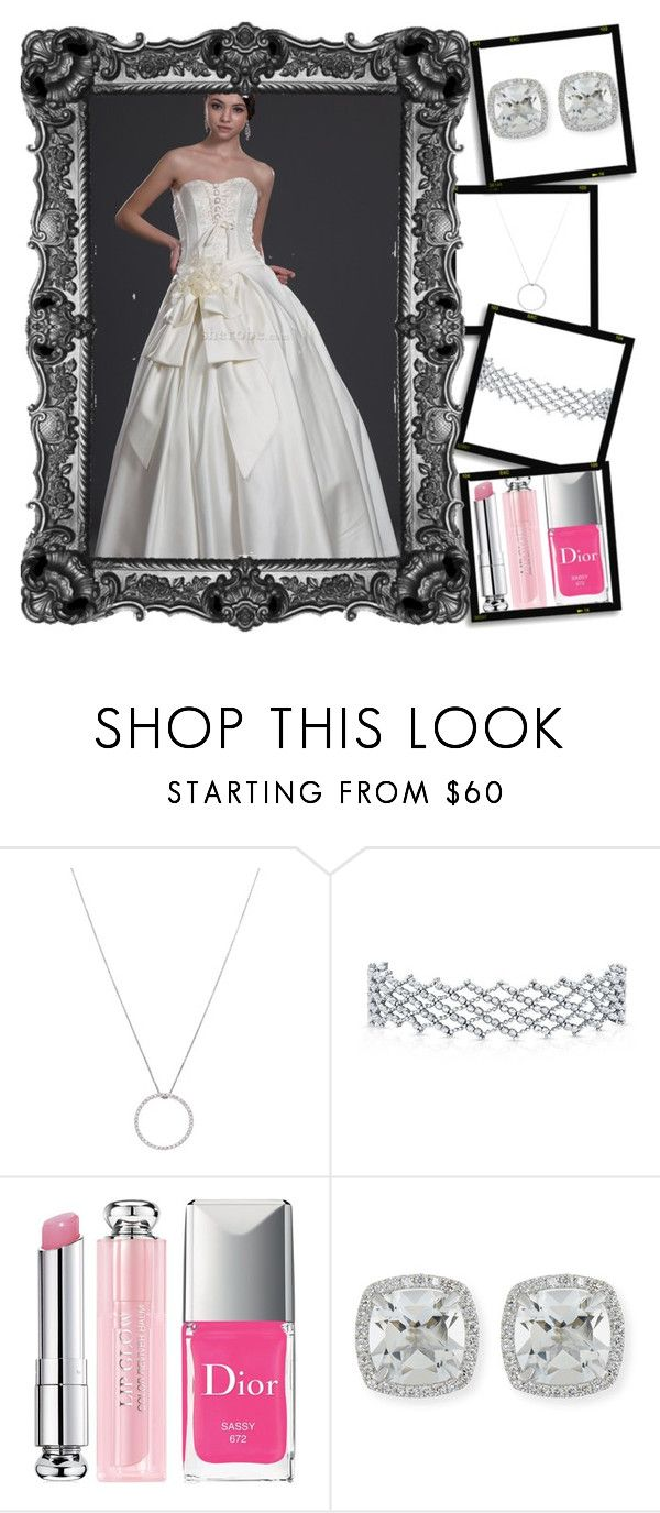 """""""Robe de mariée sans manches"""" by sherobe on Polyvore featuring Roberto Coin, Christian Dior and Frederic Sage"""
