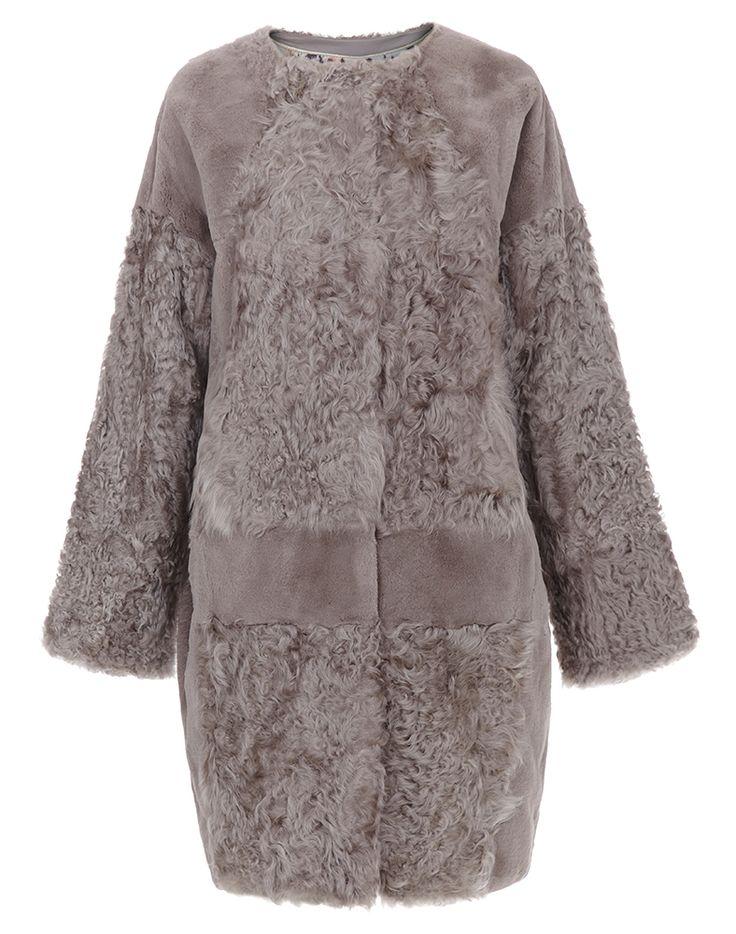 Шуба из кролика с отделкой мехом овчины Virtuale Fur Collection (Модель:84846000)