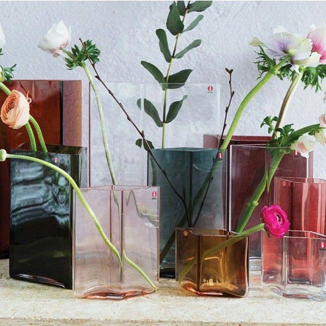 Beautiful new vases from Iittala. I'm in love. Regram: @brodrenepedersen #iittala #ruutu #bouroullec #brodrenepedersen