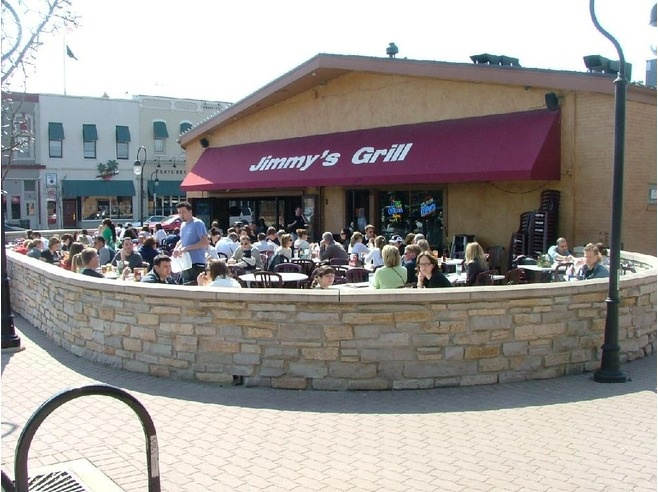 Jimmy's Grill, Downtown Naperville - One of our favorite places for dining outside.