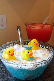 Chasing Cheerios Rubber Ducky Baby Shower Punch I Hope Someone Will Do This For My Baby Shower When We Have Kids I Love Rubber Ducks Swamp Water Recipes