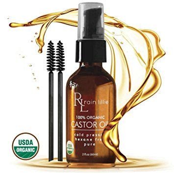 Organic Castor Oil for Hair Growth, Eyelashes, Eyebrows and Skin. Cold Pressed Hexane Free Haircare by Rain Lillie Review