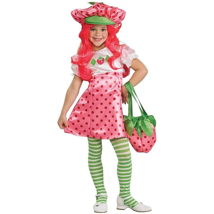 Strawberry Shortcake Costume Kids Halloween Fancy Dress #HalloweenResourceCenterInc