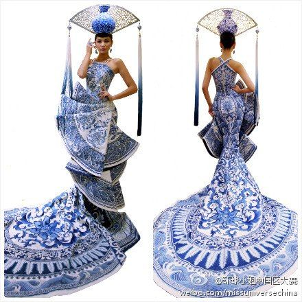 China's National Costume and Evening Gown for Miss Universe 2012