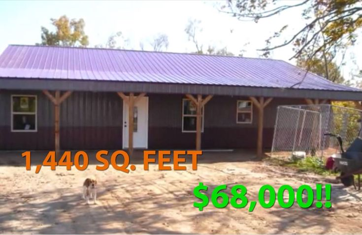Real Story: 1,440 Sq. Feet Metal Pole Barn for Only $68,000!!!   Metal Building Homes
